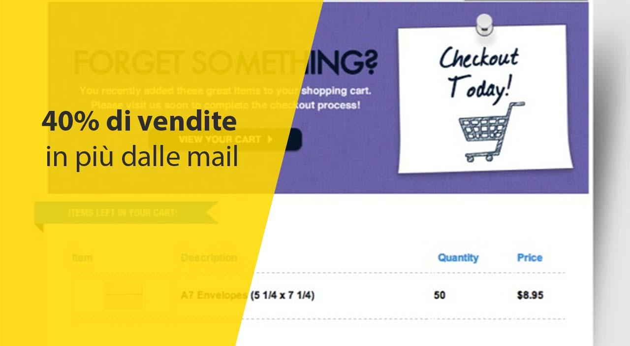 40% di vendite in più dalle mail